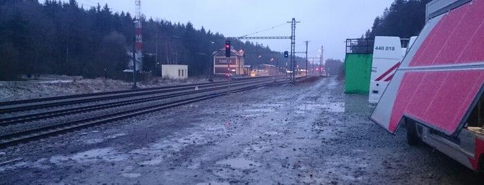 Železniční stanice Pňovany is one of Železniční stanice ČR: P (9/14).