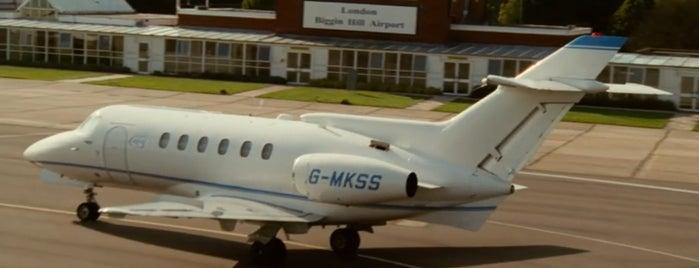 Biggin Hill Airport (BQH) is one of The Da Vinci Code (2006).