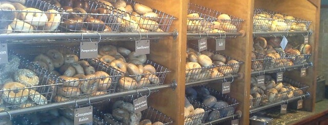 Burlington Bagel Bakery & Cafe is one of places to go.