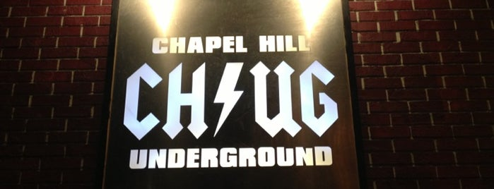 Chapel Hill Underground is one of Bar Hopping in the Thrill.