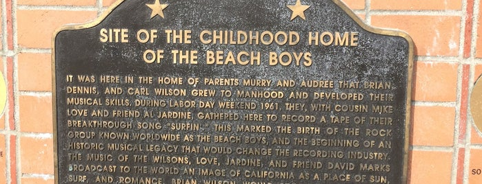 Site Of The Childhood Home Of The Beach Boys is one of I Love L.A..