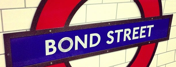 Bond Street London Underground Station is one of Railway stations visited.