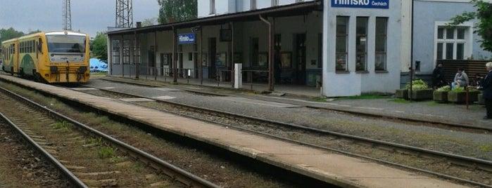 Železniční stanice Hlinsko v Čechách is one of Železniční stanice ČR: H (3/14).