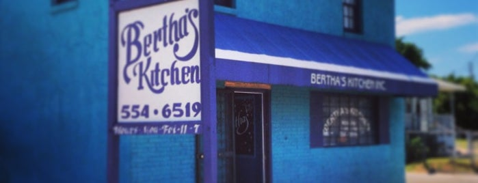 Bertha's Restaurant is one of 500 Things to Eat & Where - South.