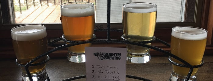 Burn'em Brewing is one of Chicagoland Breweries.