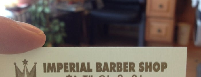 Imperial Barber Shop is one of Places I go very often.