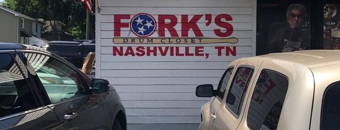 Fork's Drum Closet is one of Nashville Favs.