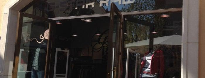 gstar raw is one of tiendas en la roca village barcelona