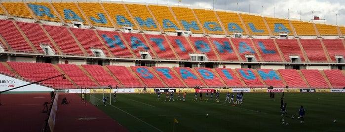 Rajamangala National Stadium is one of เพื่อนใหม่ปี 55.