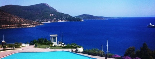 Kempinski Hotel Barbaros Bay is one of Bodrums' populars.