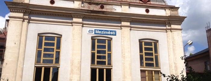 Železniční stanice Meziměstí is one of Železniční stanice ČR: M (7/14).