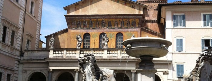 Piazza di Santa Maria in Trastevere is one of Rome 9 Jan - 12 Jan.