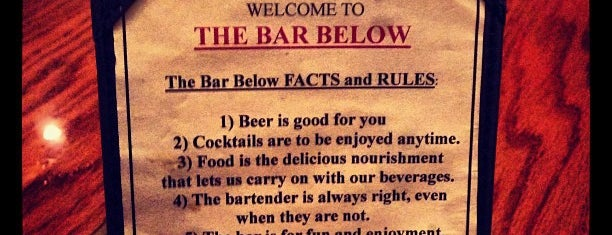 The Bar Below is one of Bars I've been to.