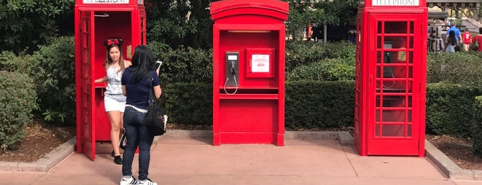 UK Phone Booth is one of Epcot World Showcase.