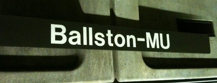 Ballston-MU Metro Station is one of WMATA Train Stations.