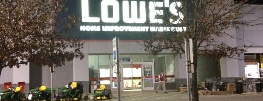 Lowe's Home Improvement is one of places.