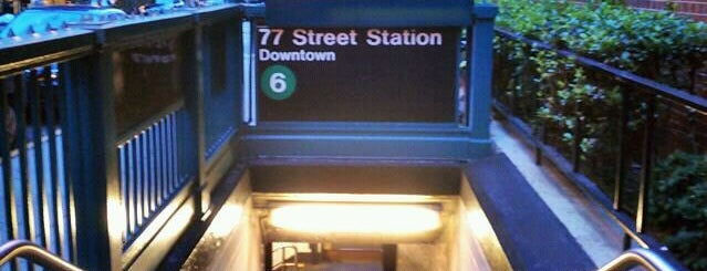 MTA Subway - 77th St (6) is one of NYC Subways 4/5/6.