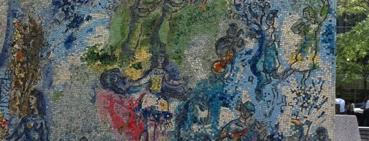 """Chagall Mosaic, """"The Four Seasons"""" is one of Badge list."""