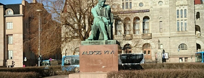 Aleksis Kivi statue is one of Patsaat ja muistomerkit.