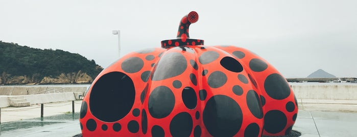 Red Pumpkin is one of Art Setouchi & Setouchi Triennale - 瀬戸内国際芸術祭.