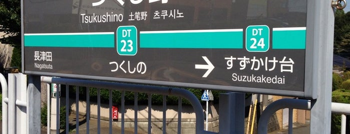 Tsukushino Station (DT23) is one of 東急田園都市線.