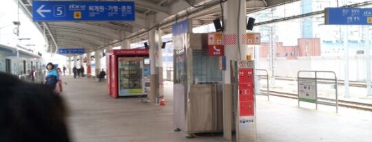 Sangbong Stn. is one of Subway Stations in Seoul(line1~4 & DX).