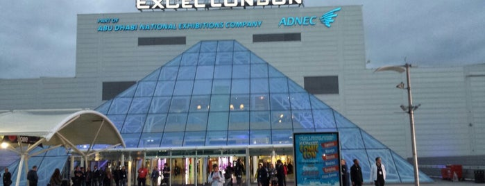 ExCeL London is one of Hand Drawn Map of London.