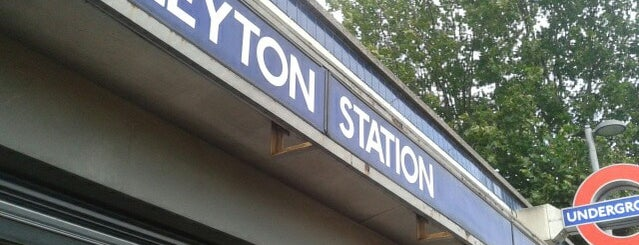 Leyton London Underground Station is one of Tube Challenge.
