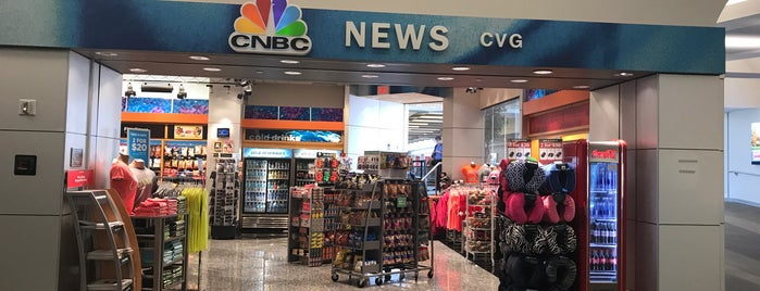 CNBC News is one of Cincinnati Airport.