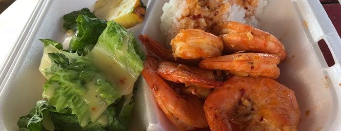 Fumi's Kahuku Shrimp is one of Hawaii Munchies.