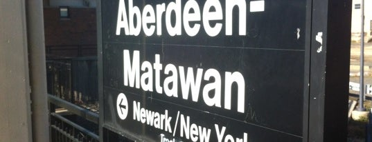 NJT - Aberdeen-Matawan Station (NJCL) is one of New Jersey Transit Train Stations I Have Been To.