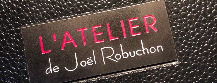 L'Atelier de Joël Robuchon is one of French.