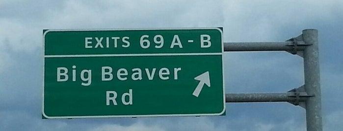 I-75 Exit 69, Big Beaver Road is one of q.