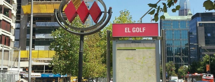 Metro El Golf is one of Estaciones del Metro de Santiago.