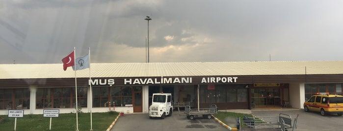 Muş Havalimanı (MSR) is one of Havalimanları.