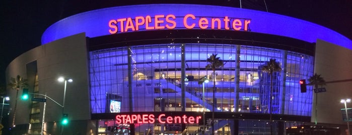 STAPLES Center is one of NHL Hockey Arenas.
