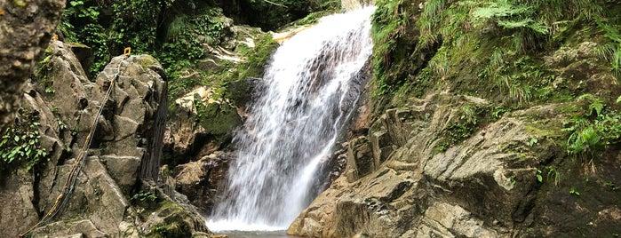 八ツ淵の滝 is one of 日本の滝百選.