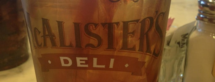 McAlister's Deli is one of Favorite Food.