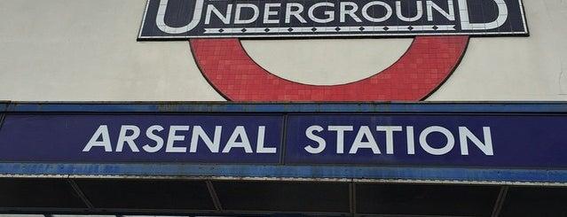 Arsenal London Underground Station is one of Tube Challenge.