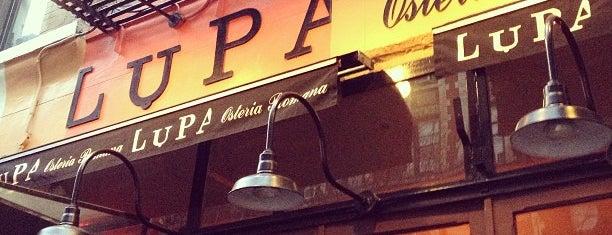 Lupa is one of Rob's NYC Eats & Sleeps.
