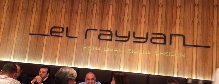 El Rayyan - Fine Lebanese Restaurant is one of Barometer Frankfurt 2014 - Teil 1.