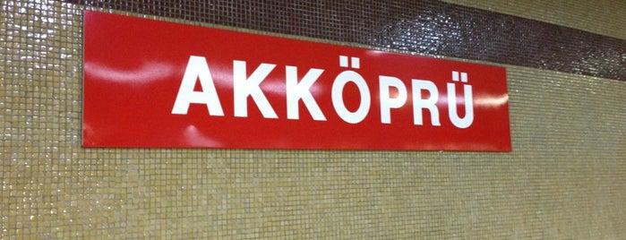 Akköprü Metro İstasyonu (M1) is one of Ankara Metro İstasyonları | Ankara Subway Stations.