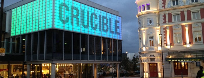 """Crucible Theatre is one of """"MUST GO""""  Sheffield.."""