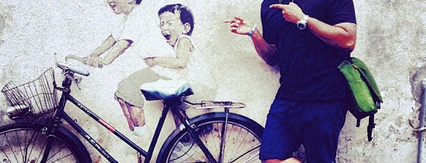 Penang Street Art : Kids on Bicycle is one of George Town.