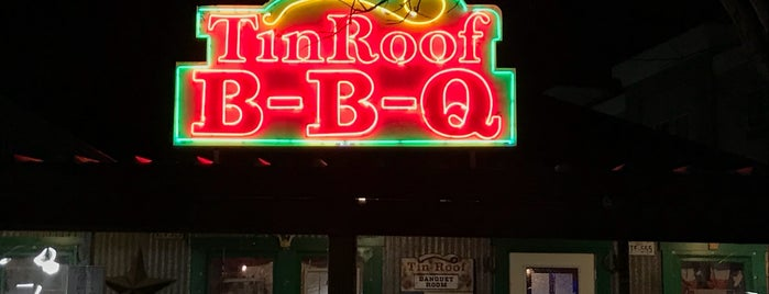 Tin Roof BBQ is one of Favorite places.