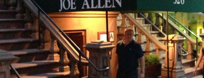 Joe Allen is one of New York.
