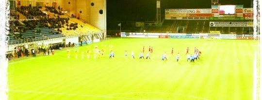Freethielstadion is one of Jupiler Pro League and Belgacom League - 2013-2014.