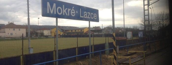 Železniční zastávka Mokré Lazce is one of Železniční stanice ČR: M (7/14).