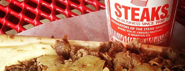 Pat's King of Steaks is one of philly.