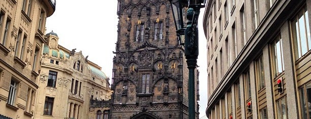 The Powder Tower is one of Prague.